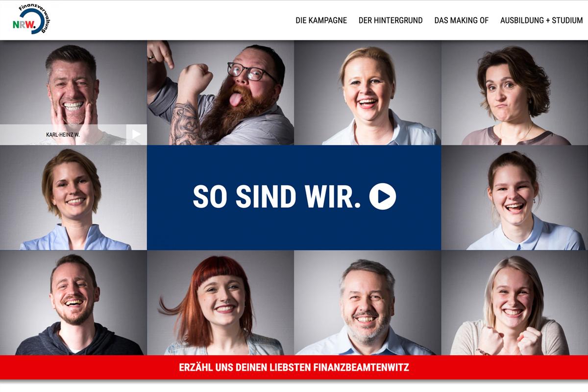 Ministerium der Finanzen NRW – Online-Massnahmen