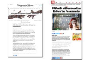 Ministerium der Finanzen NRW – Pressestimmen