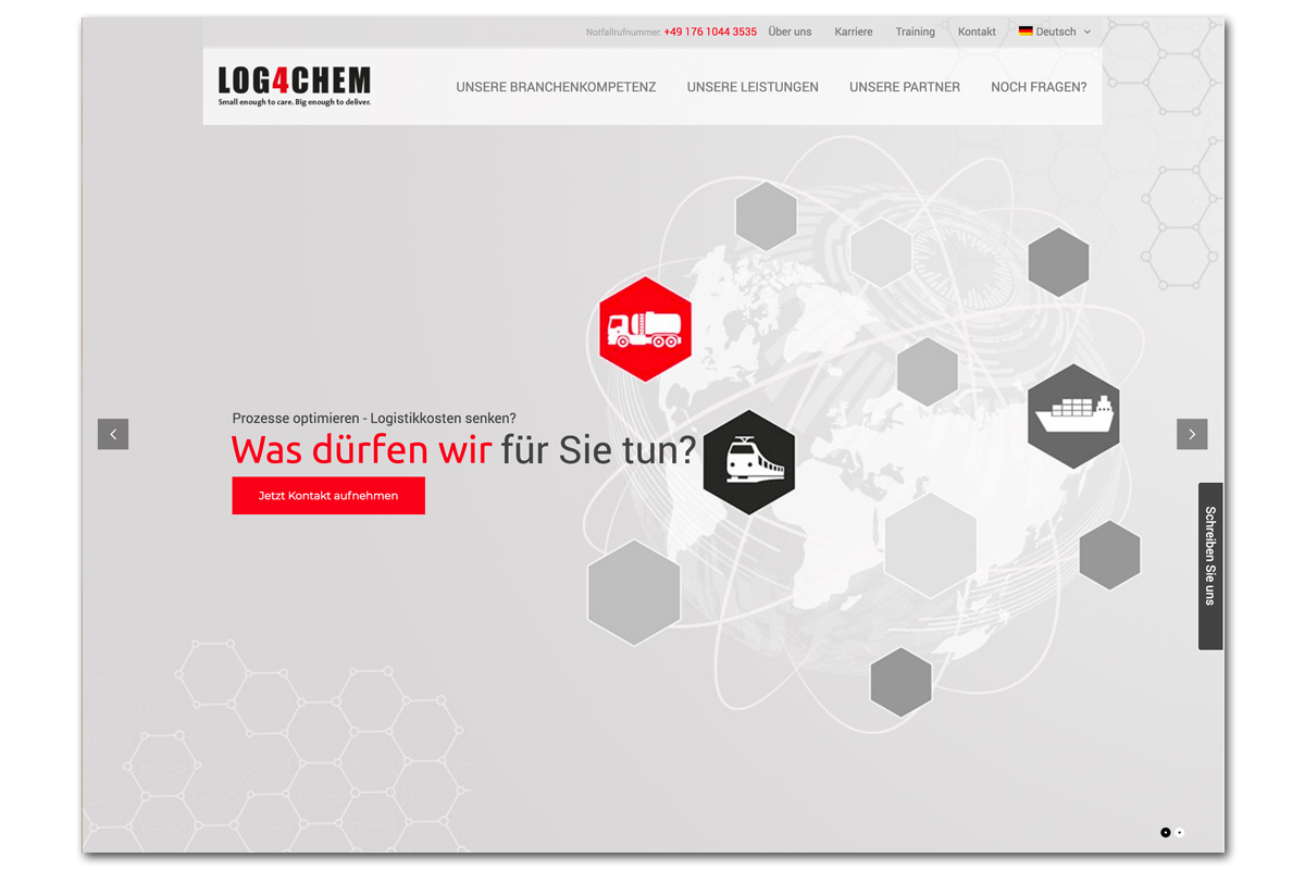 Log4Chem – Bildkonzept und Website