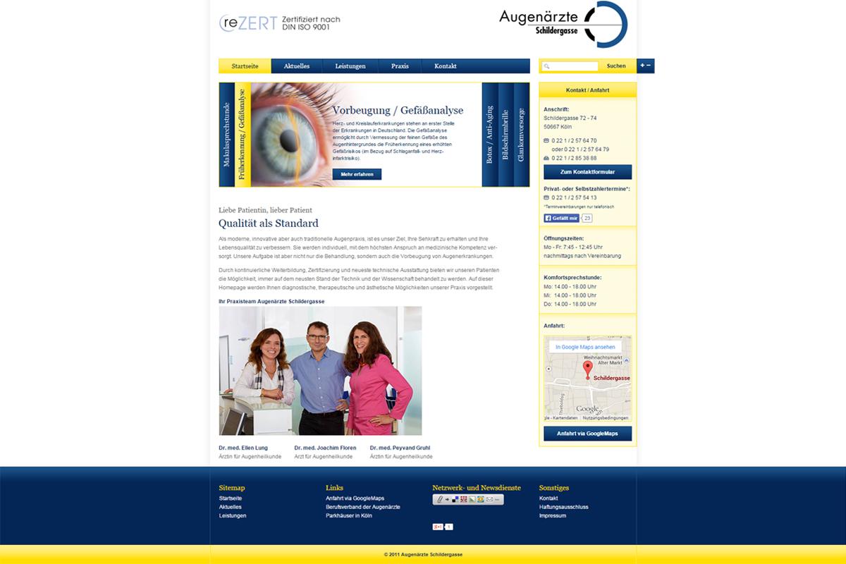 Augenärzte Schildergasse – Website