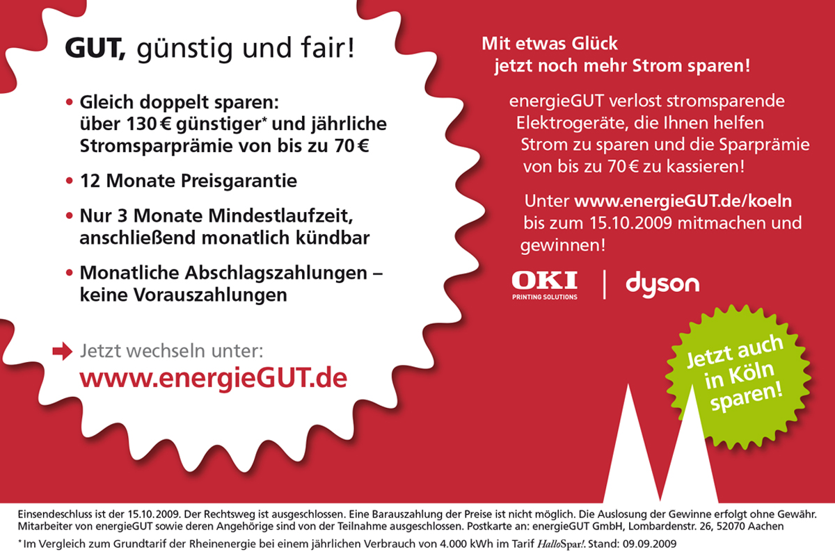energieGUT – Promotionaktion
