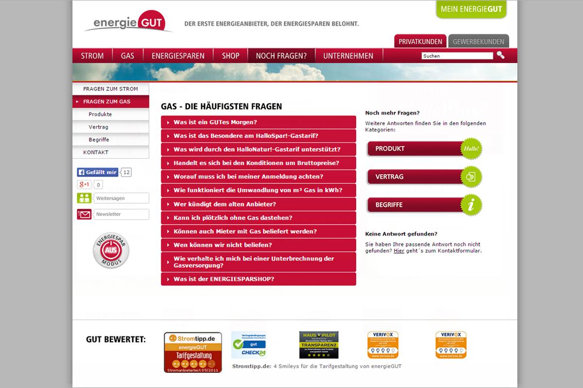 energieGUT – Website