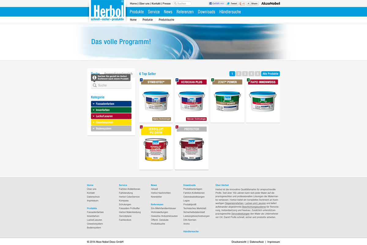 Herbol – Website Screendesign