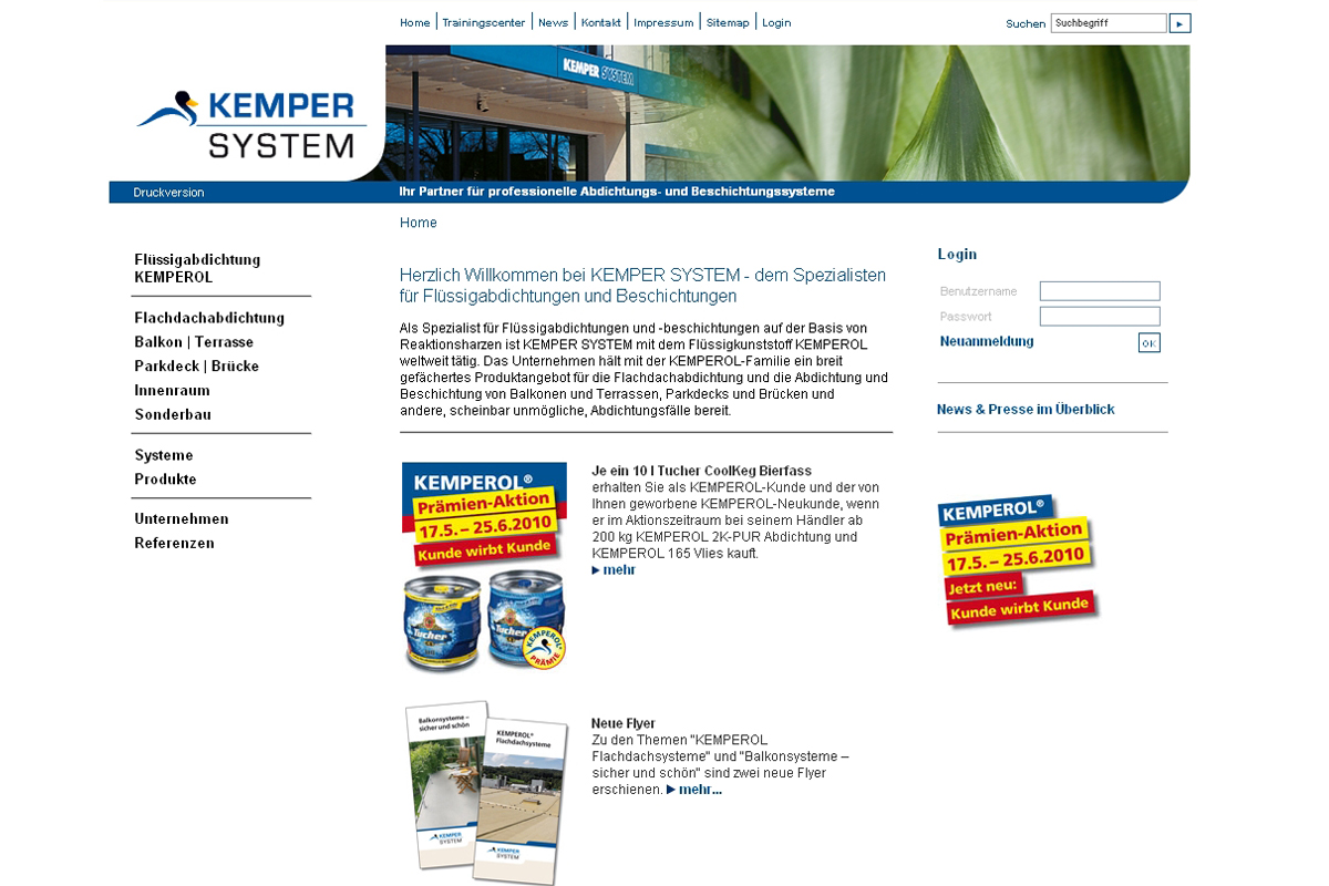 Kemper System – Website