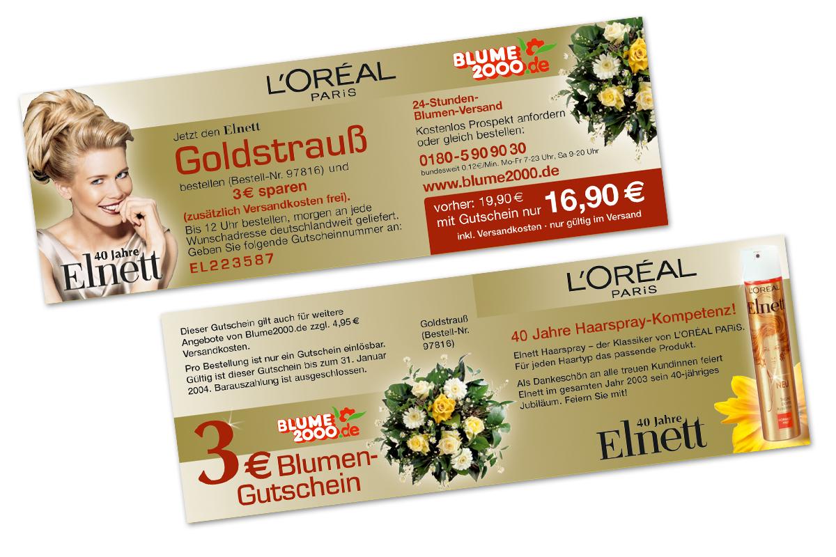 L'ORÉAL – Blumenaktion Elnett