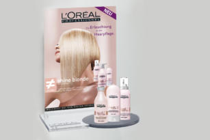 L'ORÉAL – Werbemittel shine blonde