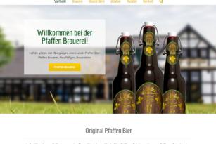Pfaffen Bier – Website
