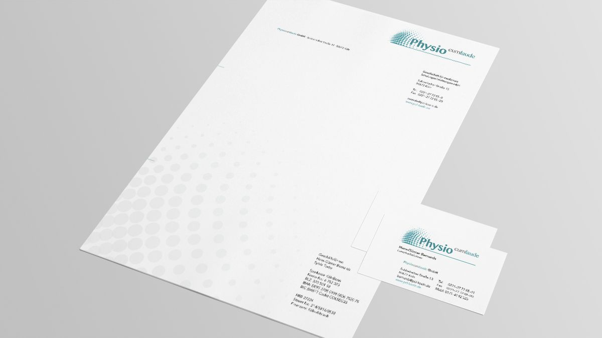 PhysioCum Laude Corporate Design