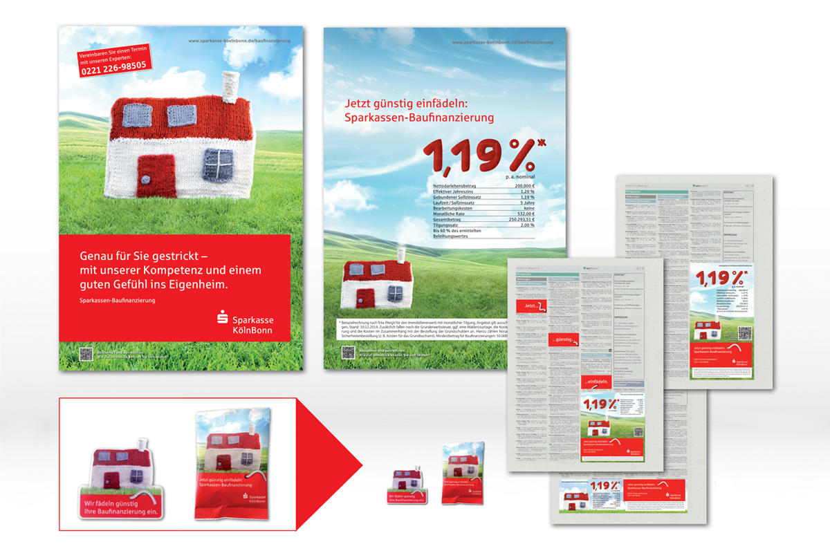 Sparkasse KölnBonn – Kampagne Baufinanzierung