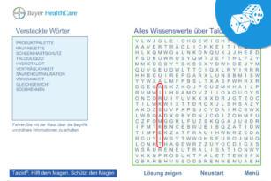 Bayer HealthCare – Talcid Wortsuchspiel