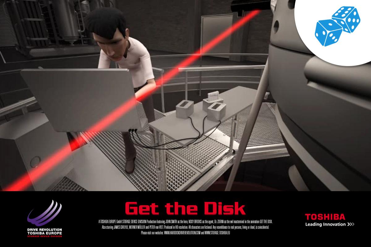 Toshiba – Spiel Get the Disk
