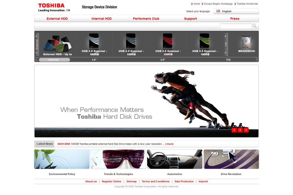 Toshiba – Website Storage Device Division