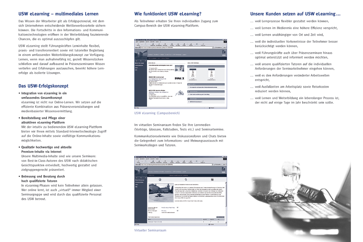 USW – Flyer E-Learning