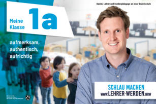 Informations- und Werbekampagne für den Lehrerberuf – Neukunde der KreativRealisten