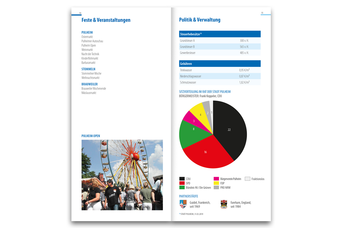 Zahlen, Daten, Fakten-Broschüre der Stadt Pulheim