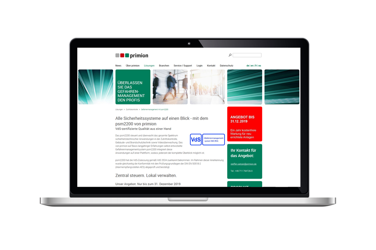 primion Technology GmbH – Vertriebskonzept
